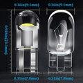Weiß T10 led-leuchten 2/10 stücke W5W 194 Glas Gehäuse Led-lampen Auto Farben Lizenz Platte Lampe Dome Licht 7 farben Auto Universal
