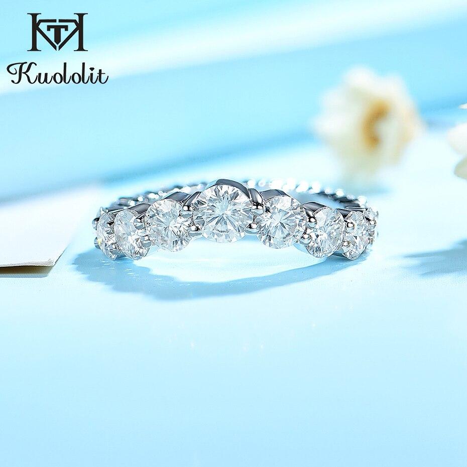 Kuololit 585 10K 14K blanc jaune or Rose Moissanite bague pour femmes dame laboratoire diamants bague pour fiançailles anniversaire cadeaux