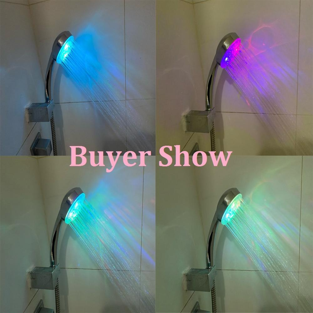 LED Shower Head No LED Rainfall 7 Color Changing Shower Head No Battery Automatic Waterfall Shower Single Bathroom Showerhead|led shower head|shower headled shower - AliExpress
