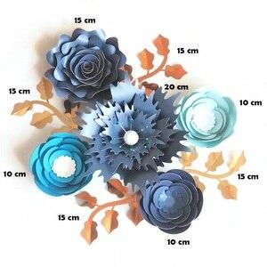 Image 2 - Ensemble de feuilles de fleurs en papier Rose
