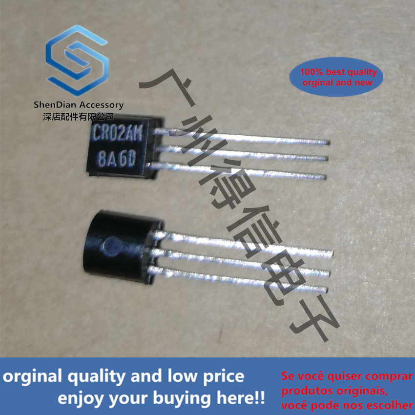 10pcs 100% New And Orginal CR02AM-8 CR02 TO-92 LOW POWER USE GLASS PASSIVATION TYPE  In Stock