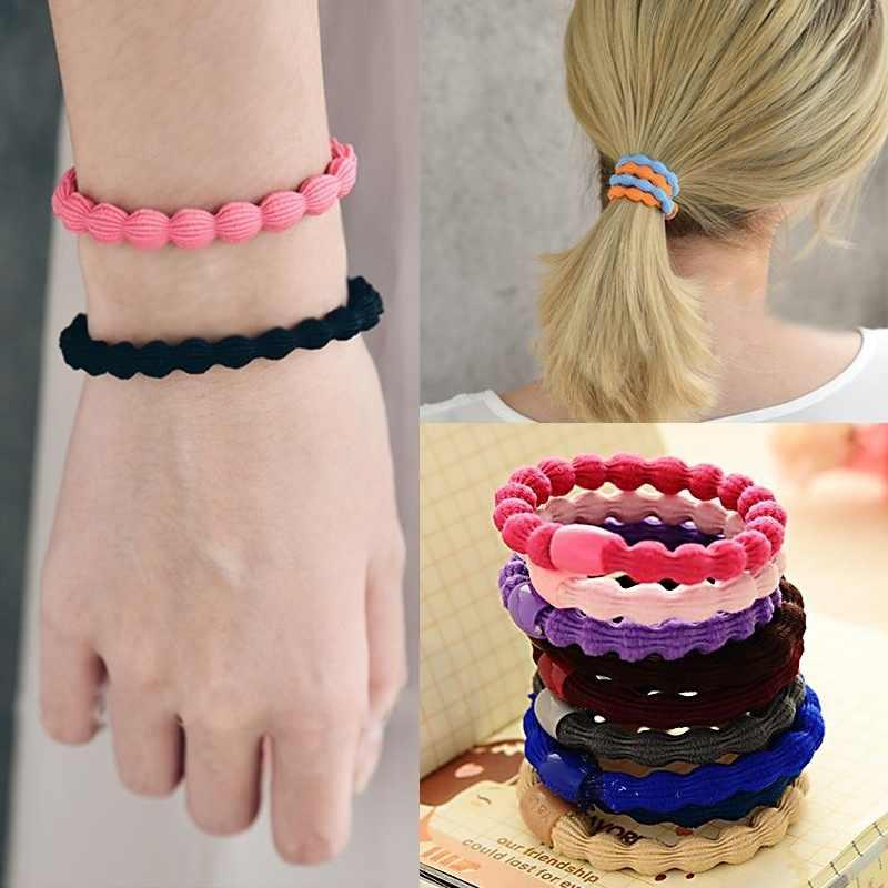 แฟชั่นแหวนผมสี Candy Lotus เชือกผู้หญิงอุปกรณ์เสริมผมยืดหยุ่นผมเชือกผมง่ายสาว