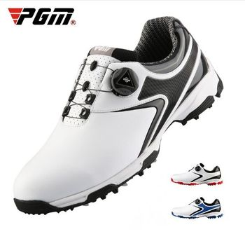 PGM Golf Shoes MenRotating Knobs Buckle Golf Sneakers Breathable Golf Shoes Waterproof Sports Sneakers Mens Training Sneakers