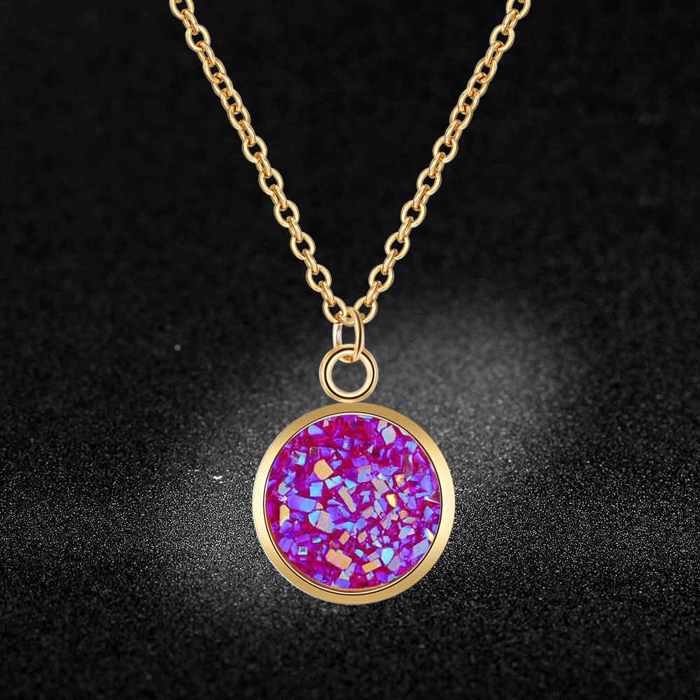 AAAAA Quality 100% Stainless Steel Shinning Resin Charm Necklace for Women Special Gift Fashion Charm Necklaces