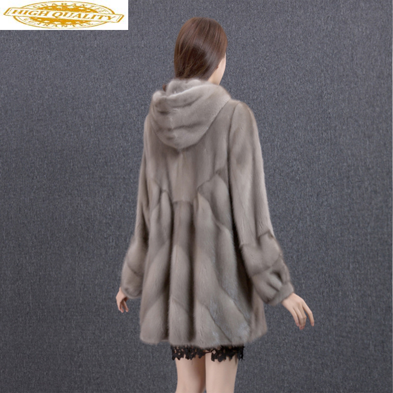 Real Mink Coat Female Jacket Winter Coat Women Clothes 2019 Luxury Natural Fur Coats Warm Outwear Manteau Femme MY4390