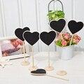 Деревянная мини-доска, прямоугольная, в форме сердца, с номером сообщения, знаками, милая задняя доска, декор для свадебного стола, товары Ве...