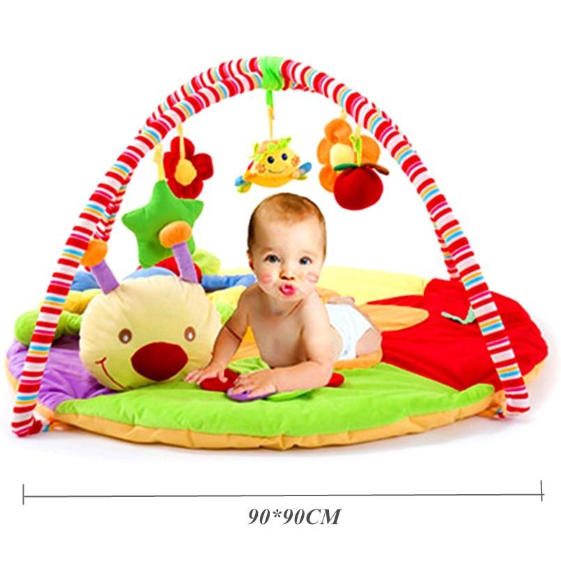 Tapis de jeu bébé tapis enfants tapis éducatif tapis de jeu bébé Gym avec Musical doux coton tapis rampant lit rond bébé Gym