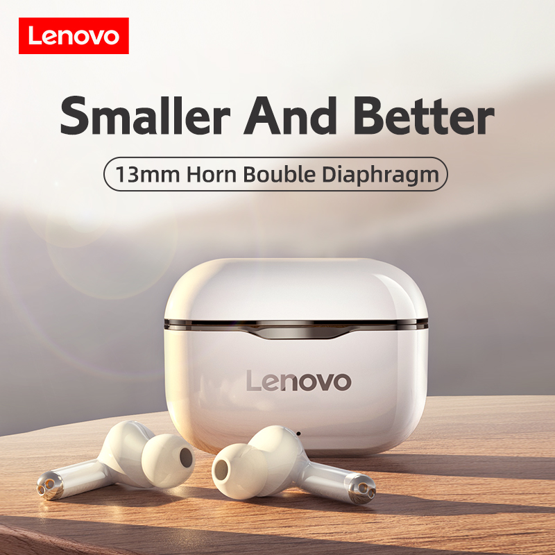 Lenovo LP1 Wireless Headphones Sport Waterproof Bluetooth Headphones 300mAh Charging Box HIFI Stereo Sound Earphones with Mic