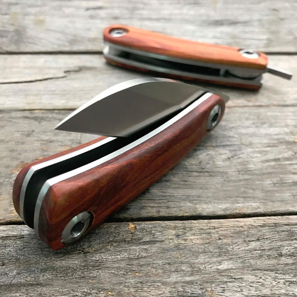 LDT Razor Mini Coltello pieghevole Lama D2 Manico in legno Coltelli - Utensili manuali - Fotografia 5