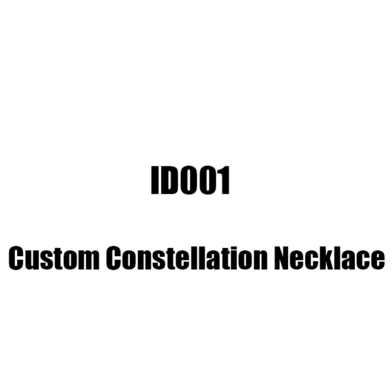 ID001Custom constellation necklace and packaging