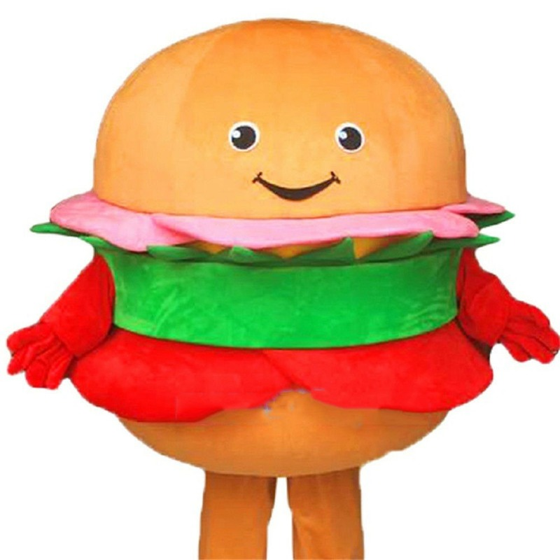 2019 Advertising Fast Food Mascot Costume Hamburger Cosplay Fancy Dress Clothing Apparel Cartoon Character Birthday Clothes Gift