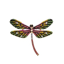 Gariton Rhinestone Vintage Colorful Enamel Dragonfly Brooches Jewelry For Women Gifts Female