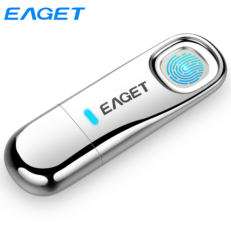 Eaget Fingerprint Recognition USB 3.0 Flash Drive 64GB Pendrive 32GB Privacy Encrypted Memoria USB Stick Top Security Pen Drives