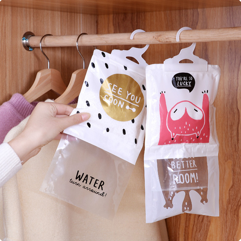 Hangable Wardrobe Moisture-proof Dehumidifier Wardrobe Closet Mold Moisture-absorbing Bag Moisture-proof Desiccant Bags Dropship