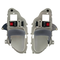 Alças de porta interior interior cinza lh & rh par conjunto para chevy gmc tahoe yukon 15708043 15708044 Maçanetas externas     -
