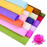 Rollo de papel crepé de colores de alta calidad, 250x25cm, Origami Crinkled, artesanía de flores secas, bricolaje, embalaje de regalo de decoración, 24 colores