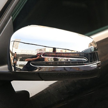 Accessories For Mercedes A B GLA CLA GLK Class Chrome Side Wing Door Wing Mirror Cover Car Styling