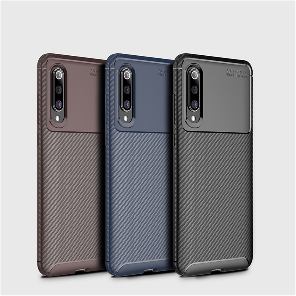 Phone Case For Xiaomi Mi 10 Mi 9 Max Case Cover Luxury Carbon Fiber Bumper Silicone Phone Back Case for Xiaomi Mi 10Pro Mi 9Pro image
