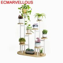 Interior Etagere Pour Plante Wood Plantenstandaard Escalera Decorativa Madera Dekoration Rack Balcony Flower Shelf Plant Stand