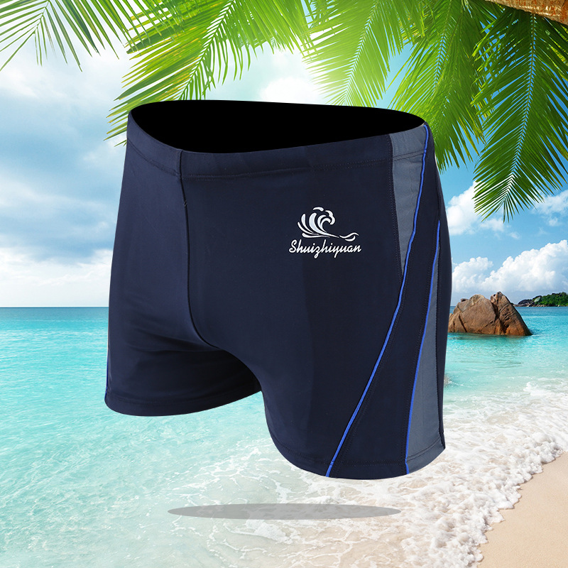 New Style Swimming Trunks Ultra-stretch Quick-Dry Industry Angle Swimming Trunks Comfortable Top Grade Fabric MEN'S Swimming Tru