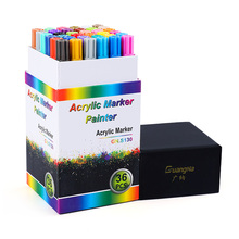 36 Colors Acrylic Marker Pen Set 0.7 Mm Creative DIY Painting Graffiti Pens Art Markers Fast Dry Drawing Markers Art Supplies
