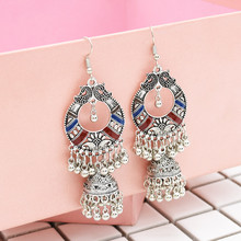 2019 Indian Gypsy Jewelry Sliver Gold Color Boho Vintage Ethnic Womens Earring Hollow Water Drop Earrings For Women Jeweler Gift