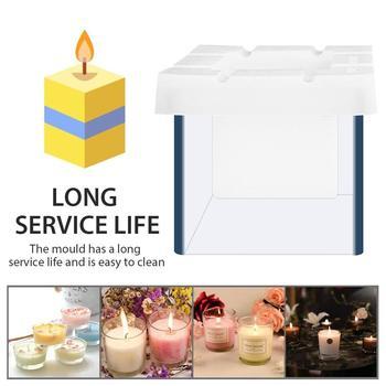 Formy świec do odlewania świec kwadratowy pusty wysoki niski odporny na temperaturę do odlewania świec narzędzie do robienia DIY gips tynk formy gliny tanie i dobre opinie Candle Molds Other 7 5X7 5cm