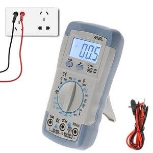 Image 1 - A830L מיני מודד LCD דיגיטלי Multimetro וולט אמפר אוהם Tester Meter מד מתח מד זרם תאורה אחורית להגן על עם בדיקה