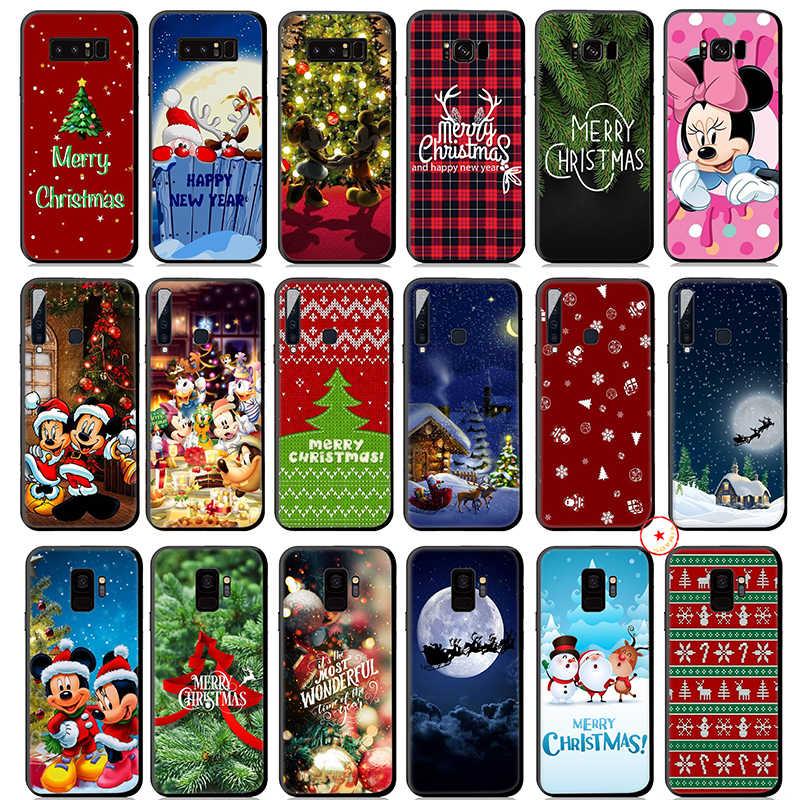 Mickey Minnie Mouse Merry Christmas Yumuşak Silikon samsung kılıfı Galaxy A50 A70 A60 A40 A30 A20 A10 M10 M20 M30 M40 kapak