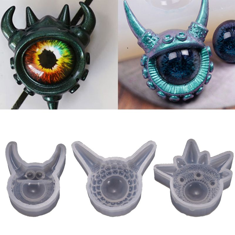 Transparent Silicone Mould Dried Flower Resin Decorative Craft DIY Devil Eye Mold Epoxy Resin Molds For Jewelry