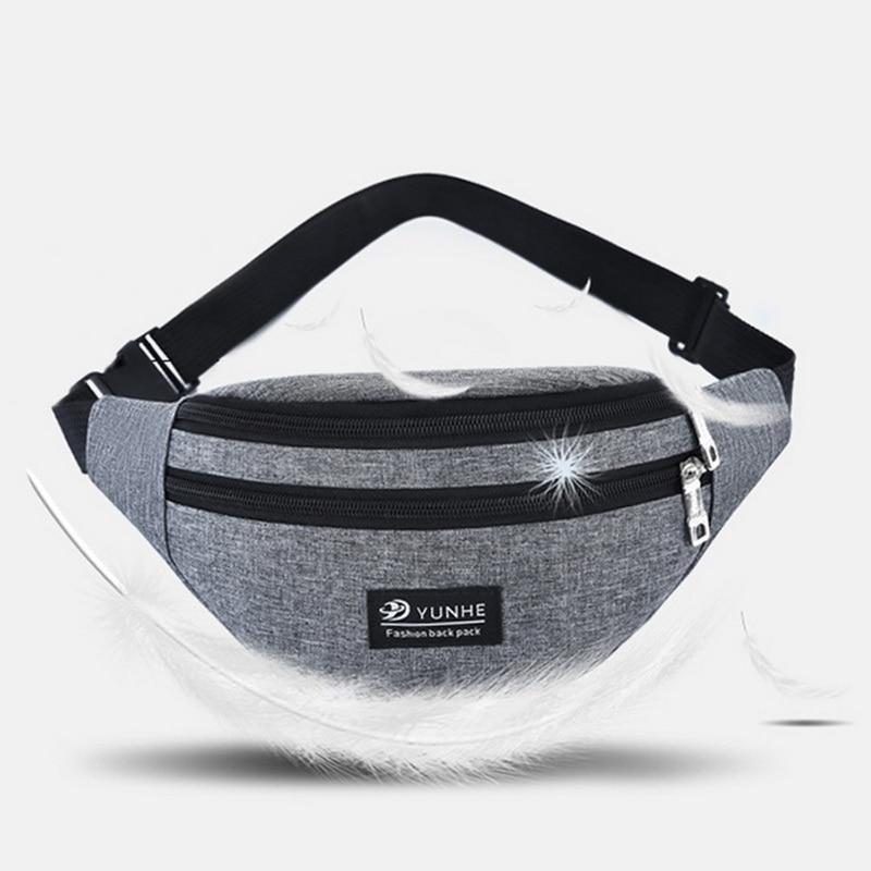 Women Men Waist Bag Colorful Unisex Waistbag Belt Bag Mobile Phone Zipper Pouch Packs Belt Pillow Solid Belt Bag