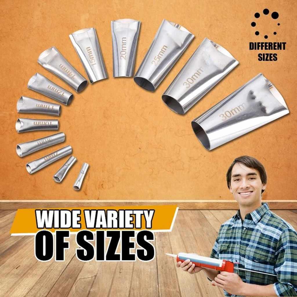 14 Buah Caulking Finisher Silicone Sealant Nozzle Lem Caulking Nozzle Remover Pengikis Tahan Air Dinding Kaca Perbaikan