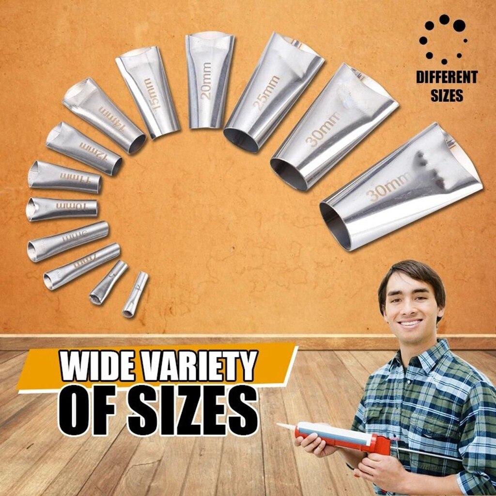 14PC Perfect Caulking Finisher Silicone Sealant Nozzle Glue Remover Scraper Stainless Steel Caulking Nozzle Applicator Tool ##5