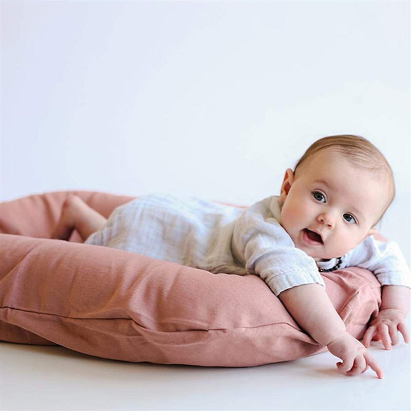 Portable Baby Nest Travel Bed Infant Cotton Crib Newborn Bed Bassinet Bumper Room Decor