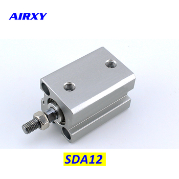 цена на SDA cylinder compact pneumatic air 12mm bore 5-50mm stroke SDA12 pneumatic double acting cylinder air piston cylinder SDA12-15
