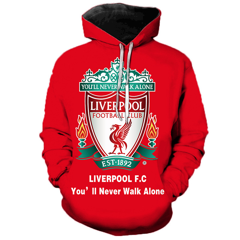 AliExpress Hot Selling Liverpool Livepool FC Printed Hooded Sweater