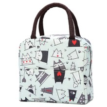 Кактус портативный изолированный Оксфорд ланч-мешки термо еда Пикник Ланч-сумки для женщин дети Функциональная сумка-холодильник с узором Ланч-бокс