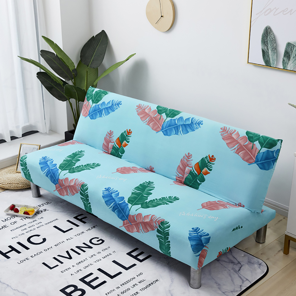 >Thumbedding <font><b>Colorful</b></font> <font><b>Feather</b></font> <font><b>Sofa</b></font> Bed Cover Runner Creative High End Stretchable Durable Blue <font><b>Sofa</b></font> Cover For Living Room