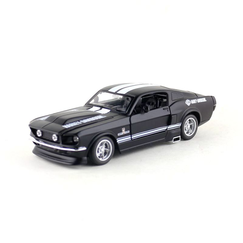 Proswon/1:32 Scale/Diecast Metal Model/1967 Ford Mustang Shelby GT500 Toy/Sound & Light/Educational Collection/Pull Back Car