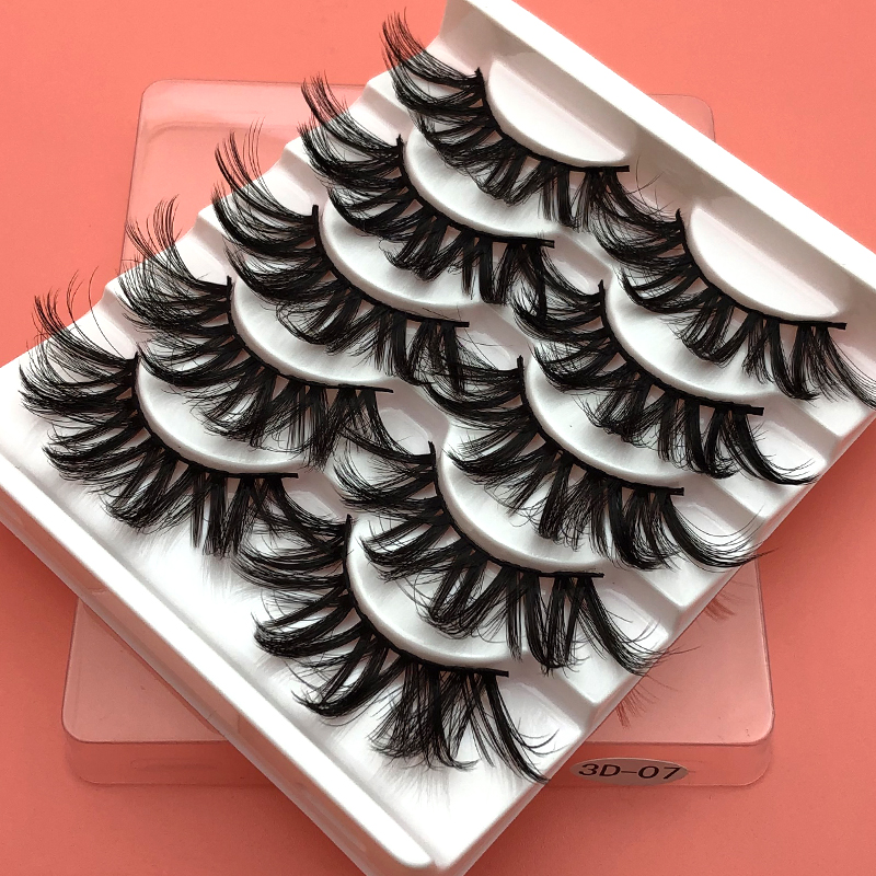 5Pairs 3D Mink Hair False Eyelashes Natural/Thick Long Eye Lashes Wispy Makeup Beauty Extension Tools