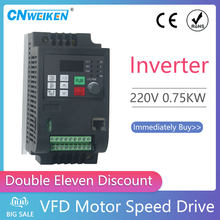 0.75KW 1.5KW 2.2KW 4kw 220V CE CB type ac mini frequency inverter VFD for engine motor