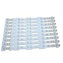 """100% nowa oryginalna taśma podświetlana LED 9 sztuk/partia 39 """"taśma LED SW 39 3228 05 REV1.1 120814 5 LEDS(1 LED 3V) 420mm"""