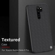 for Redmi Note 8 Pro case carbon fiber cover, original NILLKIN plaid synthetic fiber case for Xiaomi Redmi Note 8 Pro phone
