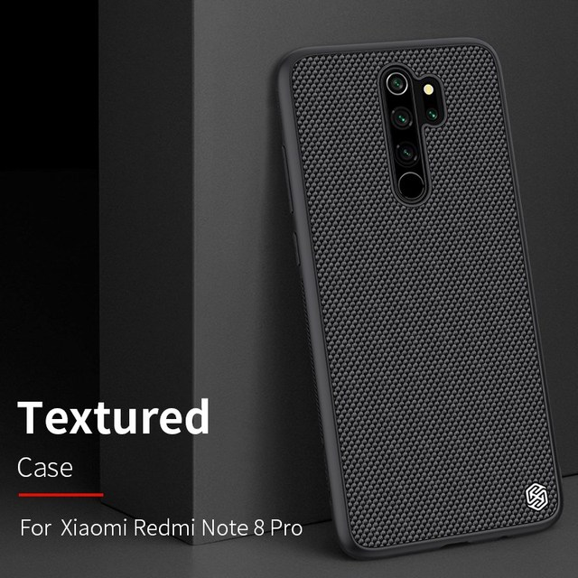 for Redmi Note 8 Pro case carbon fiber cover, original NILLKIN plaid synthetic fiber case for Xiaomi Redmi Note 8 Pro phone
