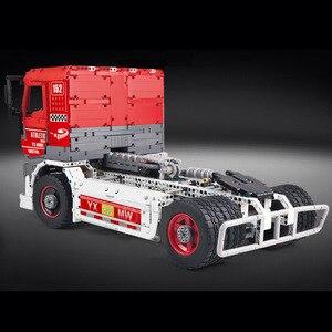 Image 2 - Molde rei 13152 técnica carro brinquedos compatíveis com MOC 27036 app motorizado caminhão de corrida mkii blocos de construção crianças presentes natal