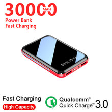 Mini Power Bank 20000mAh doble USB 2 luces LED cargador portátil batería externa paquete para Samsung Xiaomi Iphone(China)