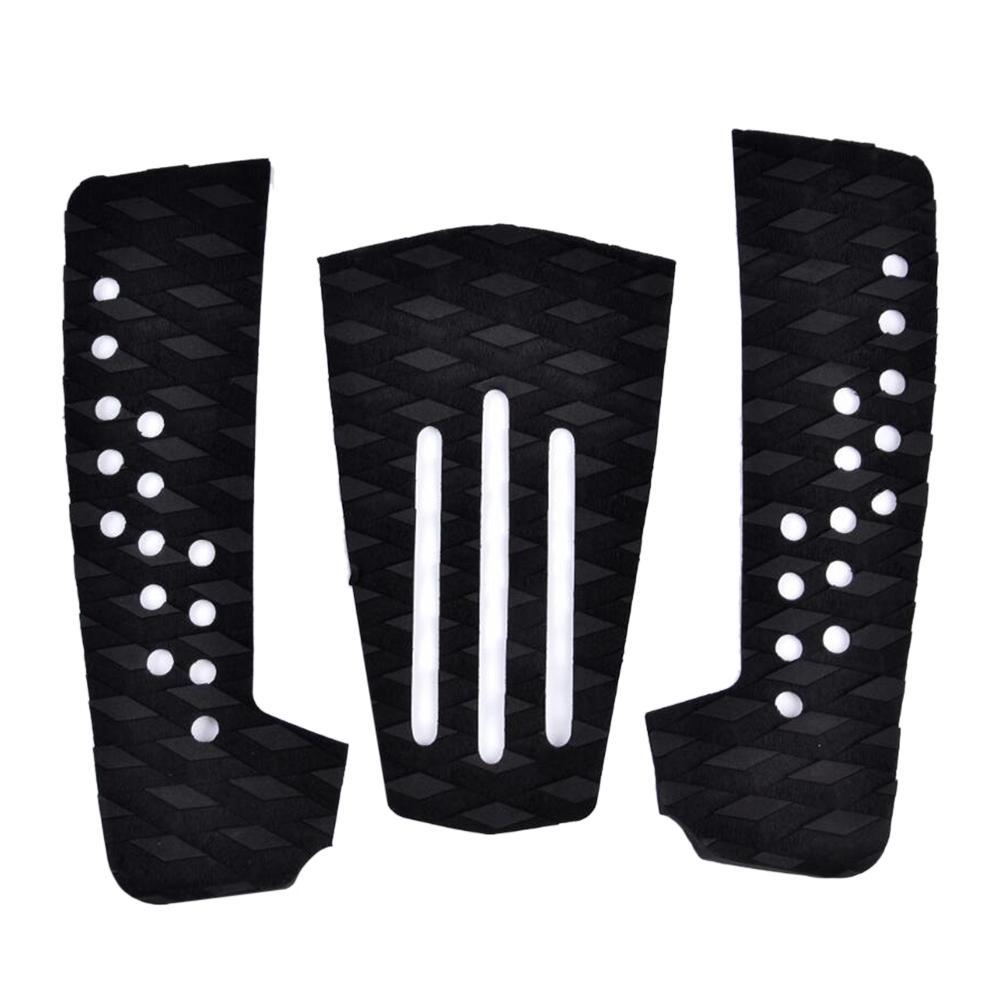3 pièces planche de Surf Pad de Traction tampons de Surf EVA mousse Stomp Pad pour Surf et écrémage Deck Grip Mat Anti-choc planches de Surf