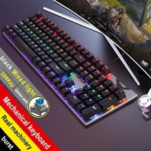 New FV-Q302 Green Axis Game Luminous USB Internet Cafe Applicable Cross-border Hot Purchase Real Mechanical Keyboard
