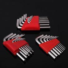 5/8/11 pces allen chave métrica Polegada chave l chave sae tamanho allen chave curto braço conjunto de ferramentas 1.27-6mm