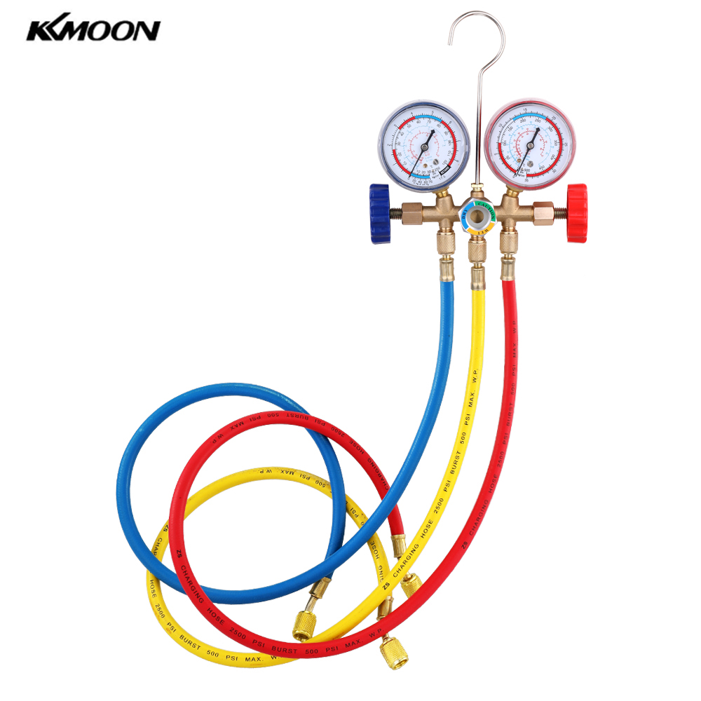 Manifold-Gauge-Set Refrigerant Air-Conditioning-Tools R404A R134A R22 with Hose-And-Hook